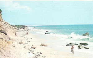Surf at South Beach  Martha's Vineyard  MA     Chrome  Postcard