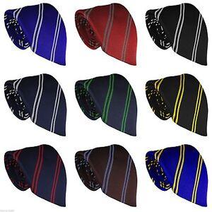WCT - High School Uniform School Tie Double Twin Stripe 11-16 Year Olds
