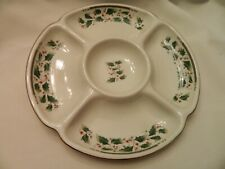 ROYAL LIMITED HOLLY HOLIDAY CHRISTMAS SERVING/RELISH TRAY