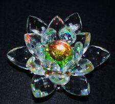 BEAUTIFUL CRYSTAL LOTUS / KAMAL FLOWER –  FENG SHUI / VASTU - SMALL