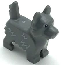 Lego New Dog Terrier with Black Eyes and Nose and Light Bluish Gray Fur Toto