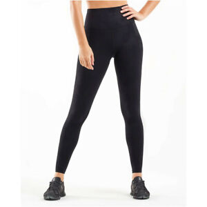 2XU Womens Fitness New Heights Compression Tights Bottoms Pants Trousers Black