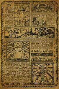 The Legend of Zelda Poster Story of the Hero 61 x 91,5 cm