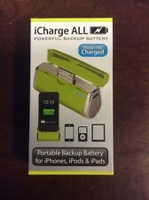 Triple C iCharge ALL iPhone iPad iPod Charger Battery Pack Leaf Green