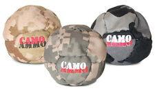 Camo Ammo camouflaged footbag hacky sack dirtbag - Pack of THREE