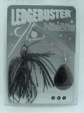 Strikezone LB034-N1 Ledgebuster Night Bite Spinner Bait Black Silver 21841