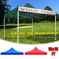 10x10ft Canopy Top Replacement Patio Outdoor Gazebo Sunshade Tent Cover w/