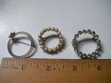 Vintage  Lot of 3 Circular Pins* 12k Gold Filled signed K