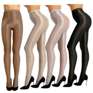 Womens Shiny Pantyhose  70D Thickness Shimmery Soft Silk Stockings Footed Tights