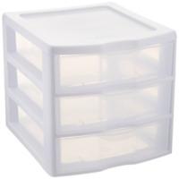 NEW Sterilite ClearView 3 Storage Drawer Organizer Single