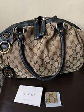 Authentic Gucci GG Monogram Sukey Medium Shoulder Bag #223974