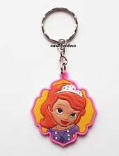 Cute Princess Sofia Keyring Bagcharm Keychain Zip puller Rubber PVC UK Seller