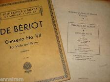 Charles De Beriot Concerto No 7 in G Op 76 For Violin & Piano 1928 ed Schradieck