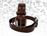 1 1/2 HEAVY DUTY GUN HOLSTER WORK MENS LEATHER BELT WOMEN HAND MADE BELTS 1.5""