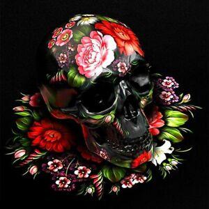 5D DIY Diamond Painting Skull Skeleton Flowersd Embroidery Cross Stitch Home Art