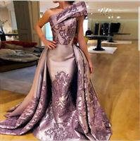 Gorgeous Celebrity Long Evening Gown Applique Mermaid Pageant Prom Party Dresses