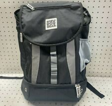 Mobile Dog Pet Gear Back Pack in Black with Bowls and Accessories