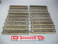 AD338-2# 18x Märklin/Marklin H0/00 M-Gleis/Gleisstück/Schienen f. 3600/800