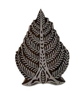 Stampo Inchiostro Legno Albero Di Vita Artigianato Indiano Rajasthan 7024 D6