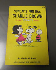 1965 Peanuts SUNDAY FUN DAY Charlie Brown by Charles M Schulz 1st Ed. 5x8 FN-