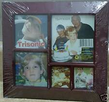 "Picture Frame 9"" x 9 1/2""~5-Slots~Wood~Fr ame"