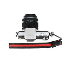 Red/Black Knitted Grosgrain Camera Wrist Strap for Sony/Canon/Nikon Cameras