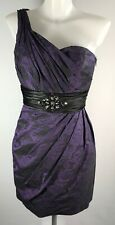 CASSANDRA STONE Party Wedding Guest Cocktail Cruise Dress Purple/Black UK6