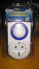 Reloj Temporizador / Programador mecánico enchufe 30min 3680W (24h) pequeño