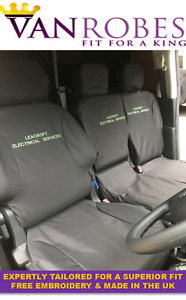Peugeot Partner Van (2008 to 2018). Tailored Seat Covers. With Free Embroidery