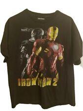 Iron Man graphic t-shirt men's large black Mash Up Marvel Fight character part 2