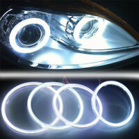 White COB SMD Angel Eyes Car LED Fog Light Ring DRL Headlight Lamp Decoration DP