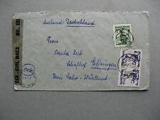 AUSTRIA, civil censored cover to Germany 1949, trad. costumes