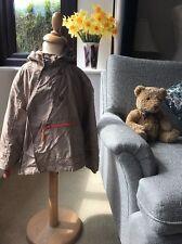 Vertbaudet Rain Coat With Fleece Lining,Taupe And Lining Orange Size 6 Years CC1