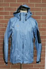 Mountain Hard Wear Womenss Blue /Black Raining Windbreaker Jacket Hooded Sz 6 M