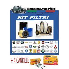 KIT TAGLIANDO FILTRI+CANDELE FIAT MULTIPLA 1.6 BIPOWER NATURAL POWER METANO