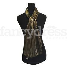 Sheer Stripe Olive Patterned Scarf Silky Shawl Wrap Headscarf NEW