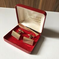 Vintage 22ct Gold Plated Cufflinks Made In England (with Box)