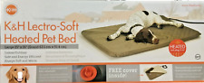 """K & H Lectro Soft Heated Pet Bed Large 25"""" x 36"""" Heating Pad Adjustable Comfort"""