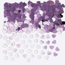 lilas scintillant Cœur Amour Confettis ST.VALENTIN Table de fête copeaux