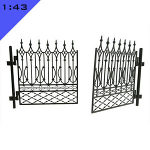 1x 3D printed DOUBLE FORGED GATE 1:43, O Model Miniature Layout Scenery