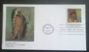 First day of issue, 1998 = 4 Centuries American Art. George Catlin, Scott #3298k