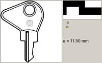 5 Stück KZ3 Silca Rohling Schlüsselrohling Kleinzylinder Keyblank für Kienzle
