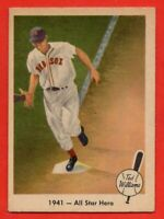 1959 Fleer #18 Ted Williams EX-EX+ WRINKLE Boston Red Sox HOF FREE SHIPPING