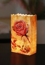 LUMINARIA Lichtertüte Blumenfreude Rose - 4-teilig, Windlicht, Papier, 9 x 26 x