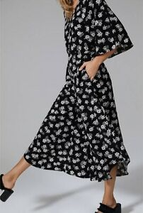 Country Road Black And White Floral Jumpsuit Worn Once Size 14 Was $200