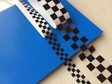 CLEAR LAMINATED CHEQUERED TAPE Cycle Bike Motorbike Helmet  Stickers 1 & 2 Inch