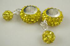 Gorgeous Czech Crystals Dangle Bead fit European Charm Bracelet Earrings gj1