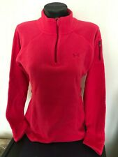 Under Armour Sweatshirt Polar Fleece Jacket, light red, Small, Polyester.