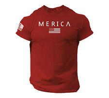 Merica Army StyleT Shirt US Flag American Military Gun Top