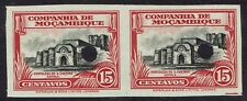 MOZAMBIQUE COMPANY 1937 FORTRESS 15C IMPERF PROOF PAIR MNH **